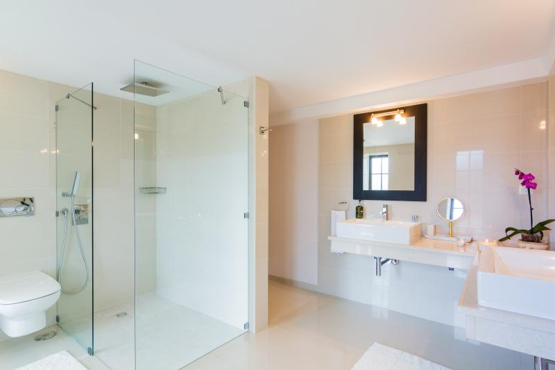 Large, modern bathrooms