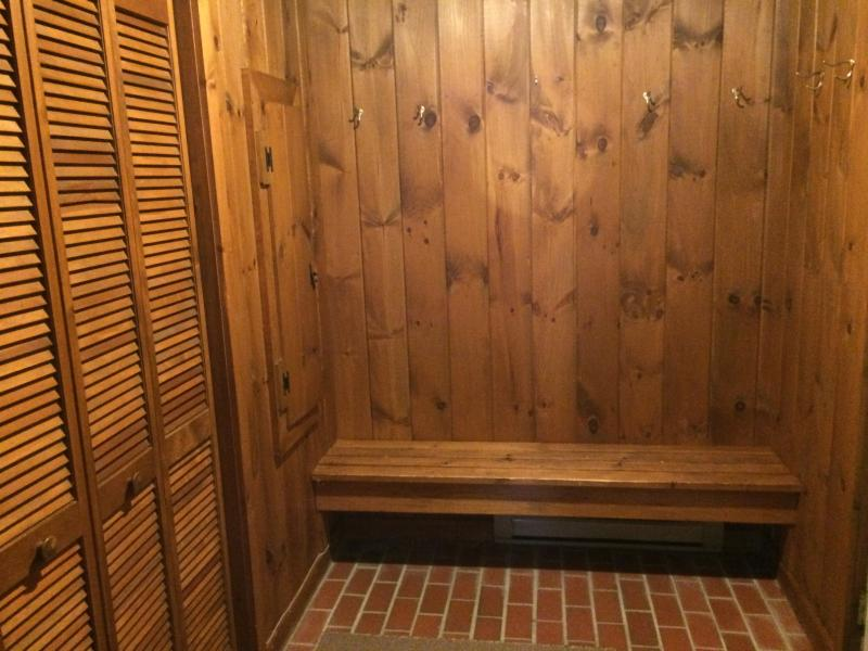 Big mudroom to put all your gear and skis in.