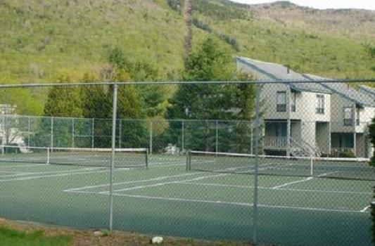 Tennis is a thirty second walk away!