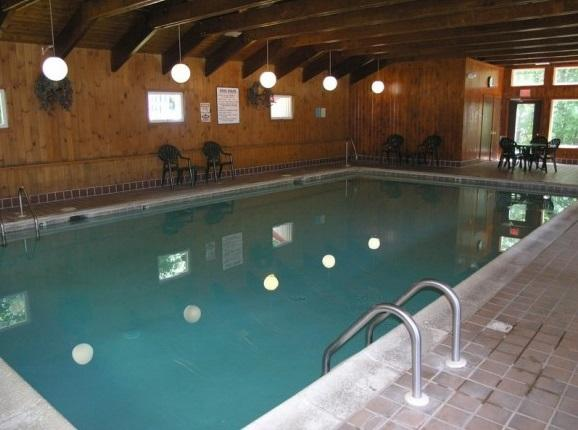 Heated indoor pool for those rainy days.