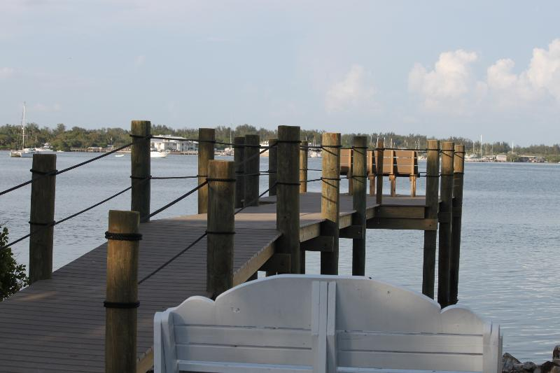 Our fishing dock steps away. We provide fishing gear too!