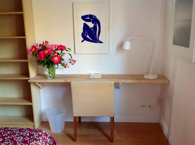 Desk in Matisse bedroom