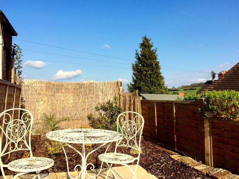 The top patio enjoys expansive rooftop views of Belper and the surrounding countryside.