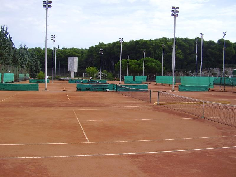 tennis courts, 200 m away