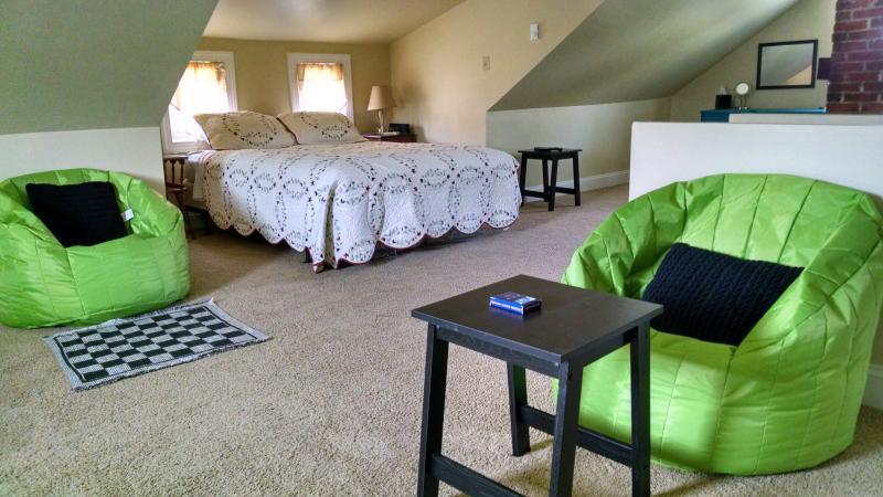 Loft Bedroom and sitting area