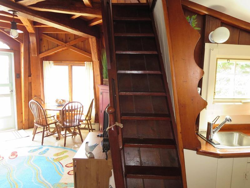 Stairs to loft - 51 Eliphamets Lane (Windmill House) Chatham Cape Cod New England Vacation Rentals