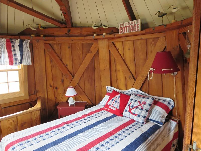 with double bed - 51 Eliphamets Lane (Windmill House) Chatham Cape Cod New England Vacation Rentals