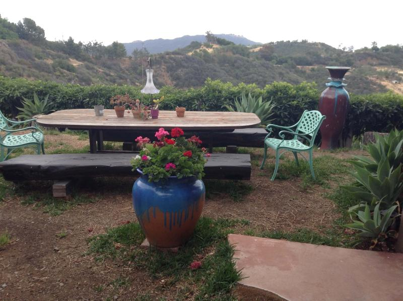 Outdoor Table with Canyon View