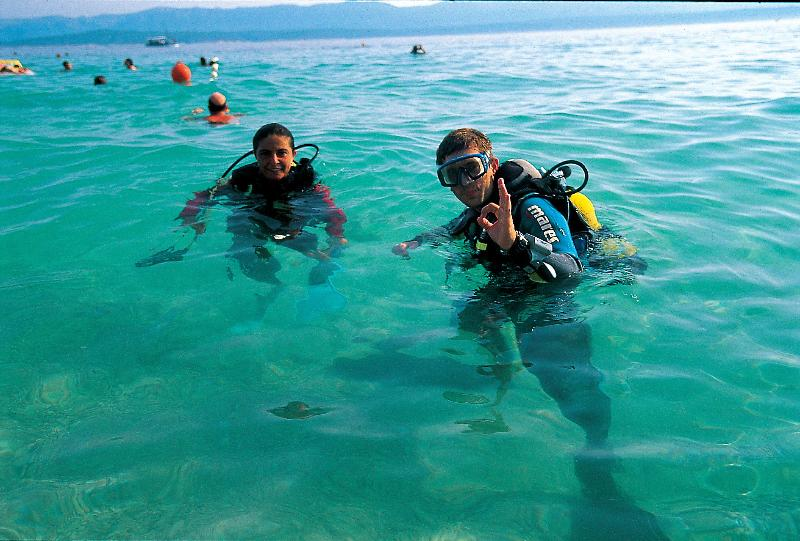 Scuba diving is very popular