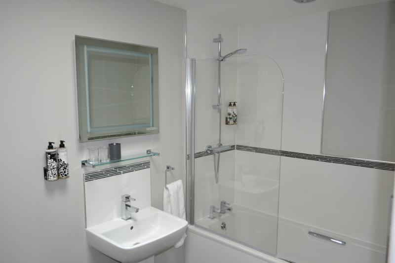 Ensuite with bath and over head shower