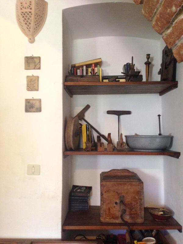 Rustic corner in the living room