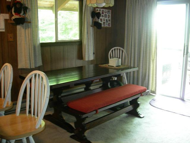 DINING AREA AND SLIDER TO DECK