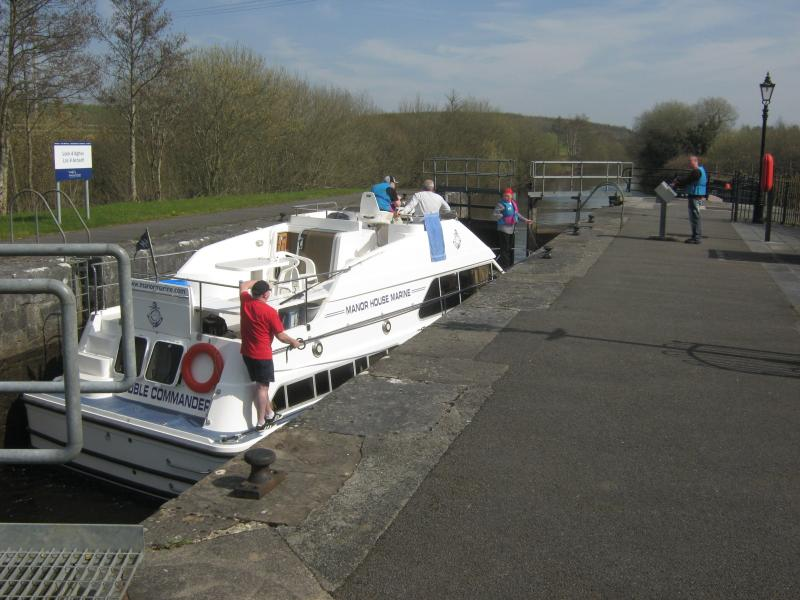 Shannon - Erne canal (5 mins). Boat hire available