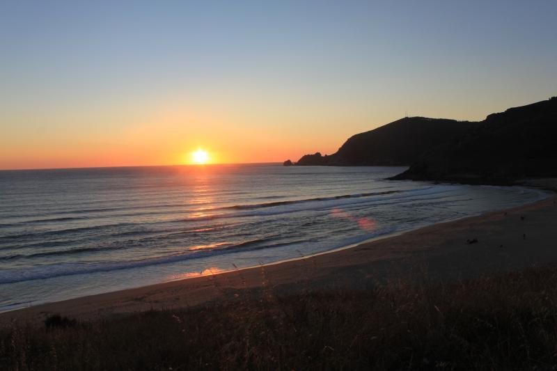 Puesta de sol en playa Mar de Fora