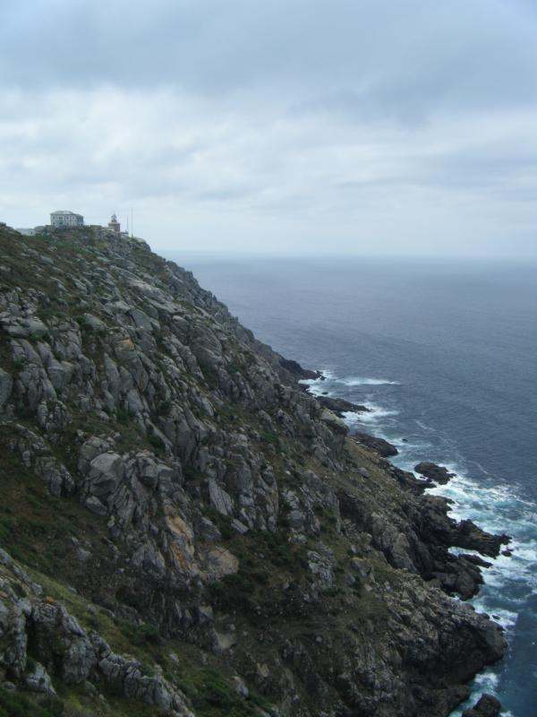 Vista norte del Faro de Finisterre