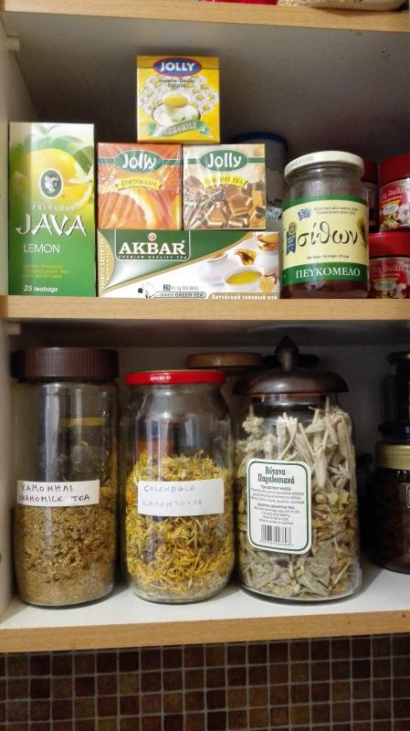 Wide selection of herbal teas