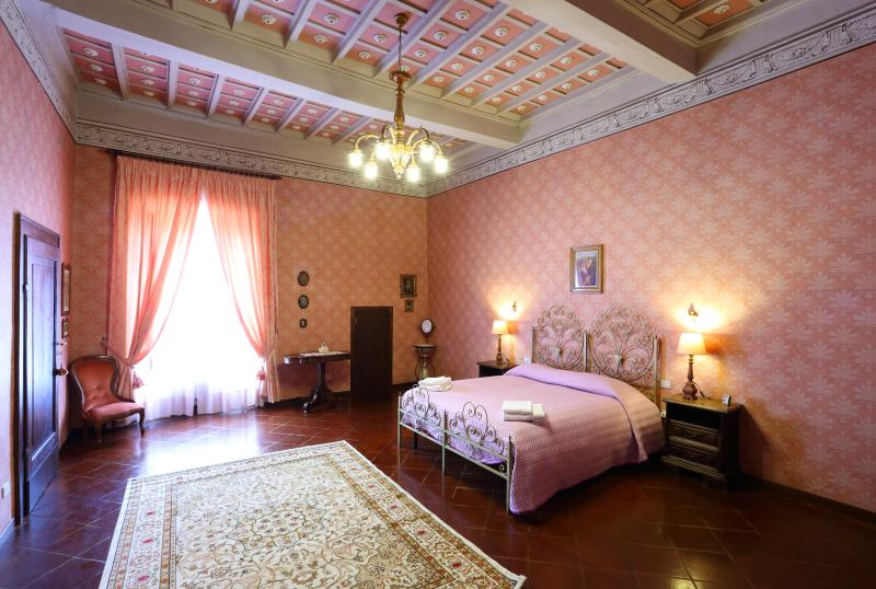 The master bedroom with secret passage