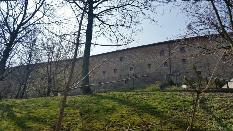 Vue depuis la chambre 1 au château de Bratislava