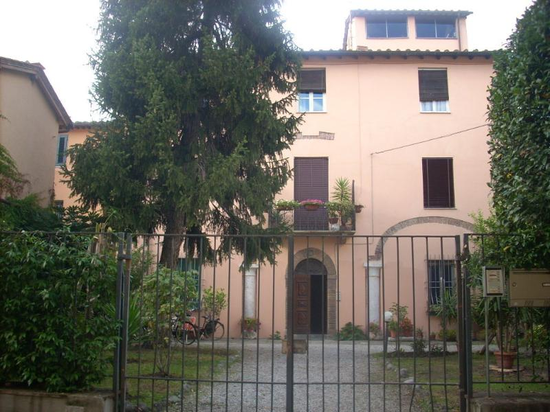 facade of the building and garden