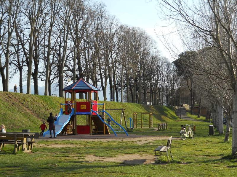 playground under the walls, in front of the Palace