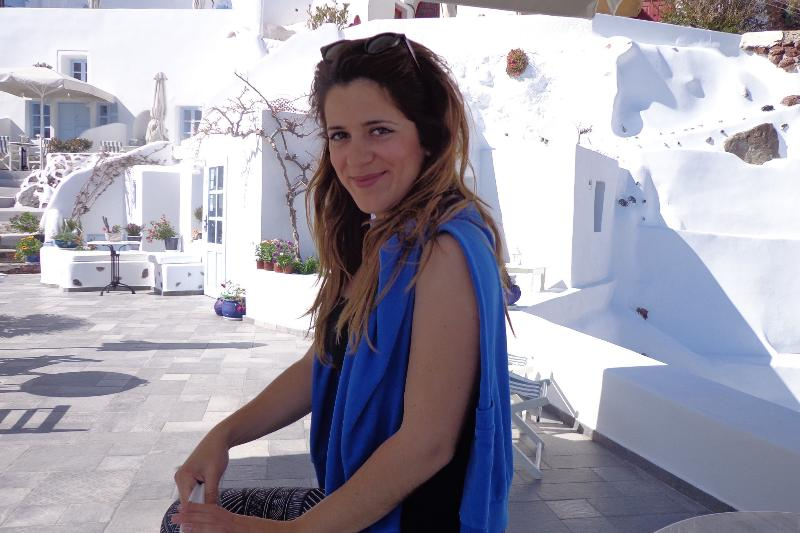 Christina - owner and manageress of Aris Caves