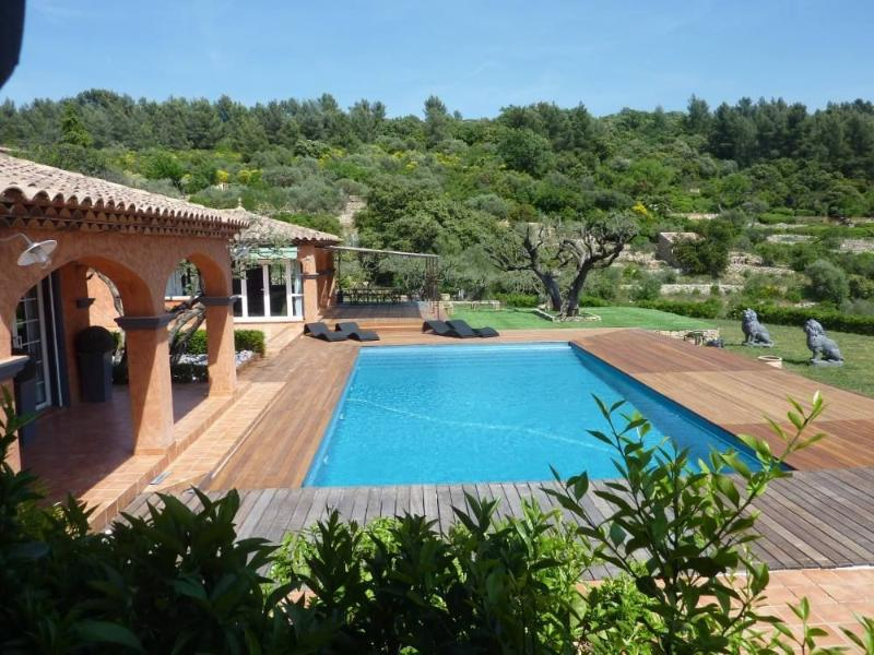 Large swimming pool hidden from view