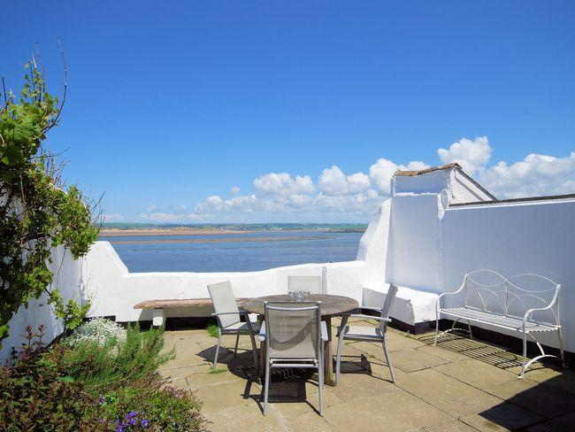 Patio/ seating area overlooking the sea