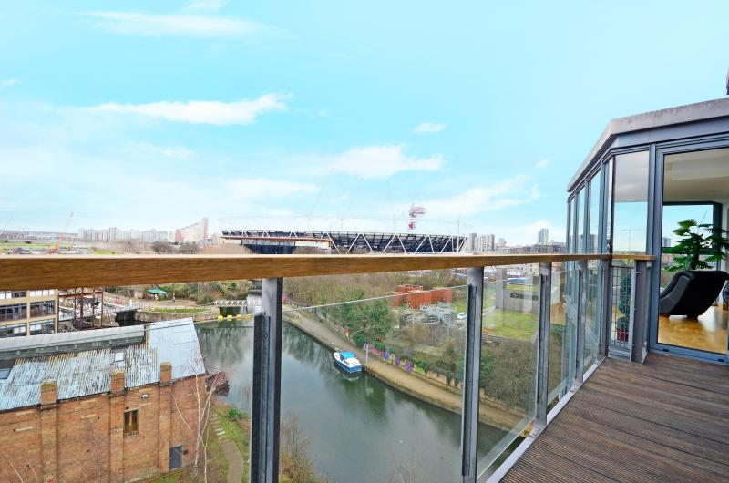 Panoramic view from the balcony of the whole Olympic Park
