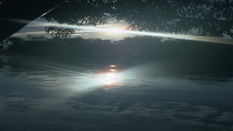 Sunlight on Menindee lakes
