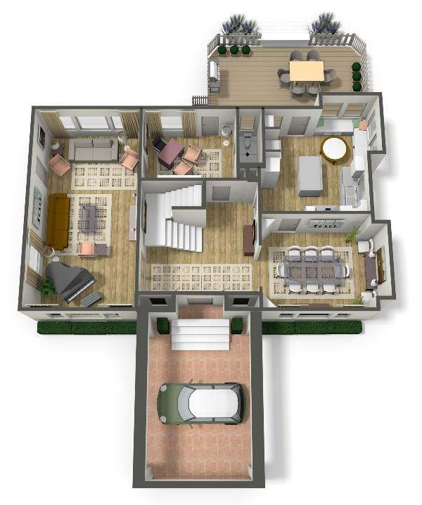 Main floor 3D plan