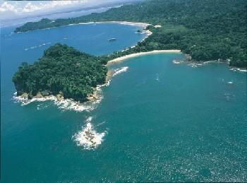 Aerial view of Manuel Antonio National Park