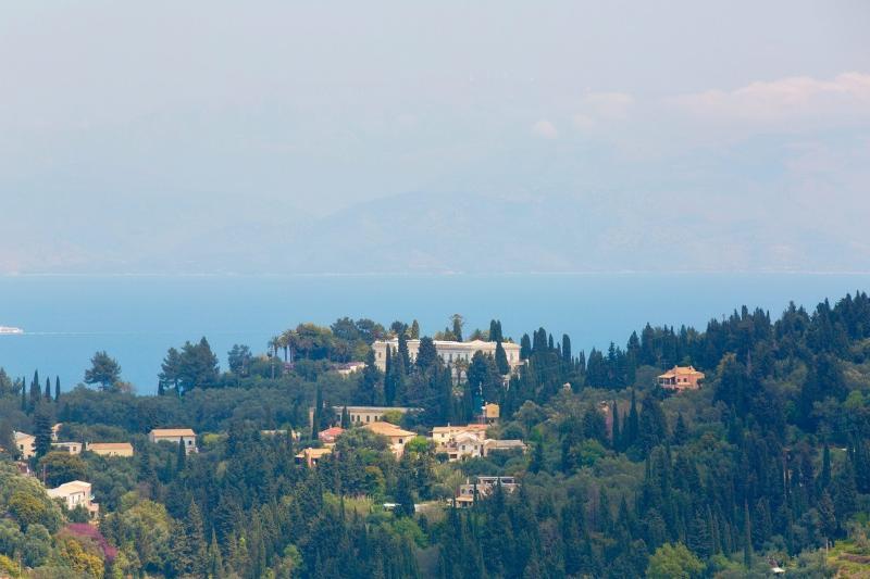 View of Achilleion Palace at Gastouri village