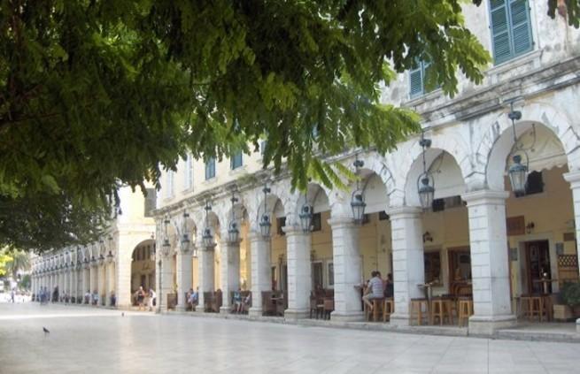 Corfu Town -Liston esplanade