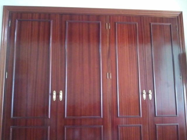 Two very large wooden wardrobes. Studio / renovated apartment.