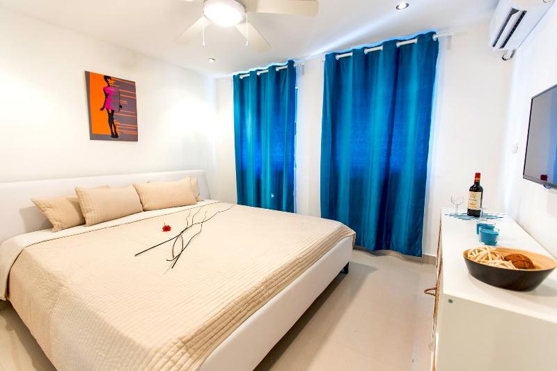 Bedroom 1. All furnished with luxury King Size leather beds