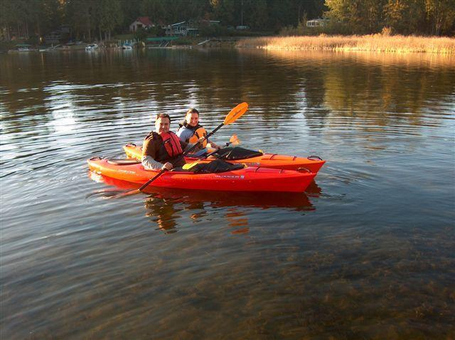 Enjoy kayaking in Strathcona Bay in our double kayak.