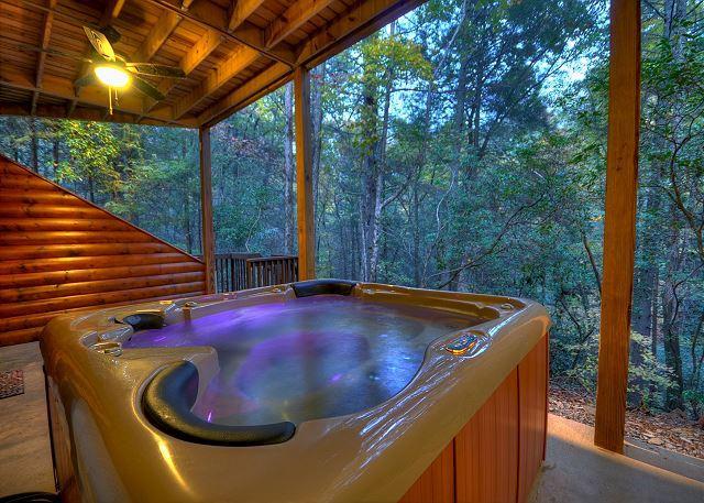 Hot Tub overlooking Creek