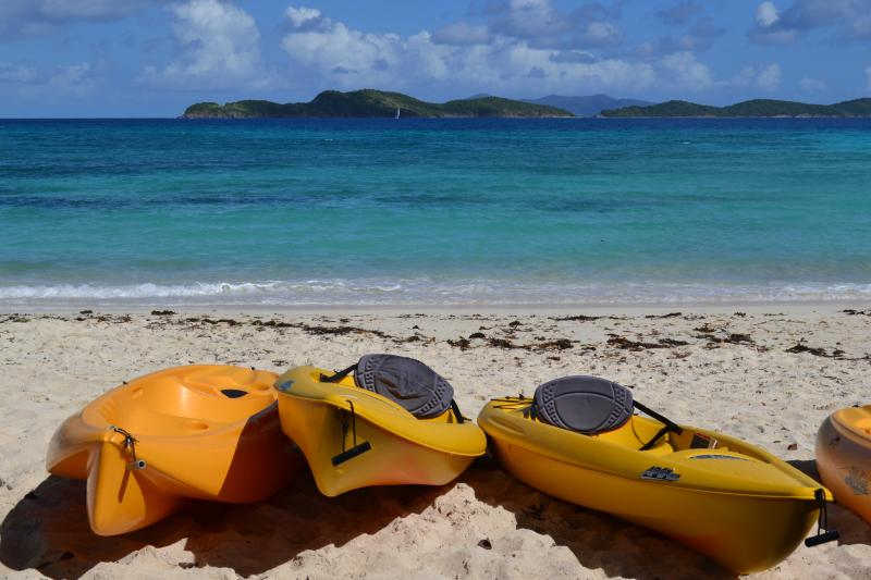 Sapphire Beach offers kayak, SUP and snorkel rentals