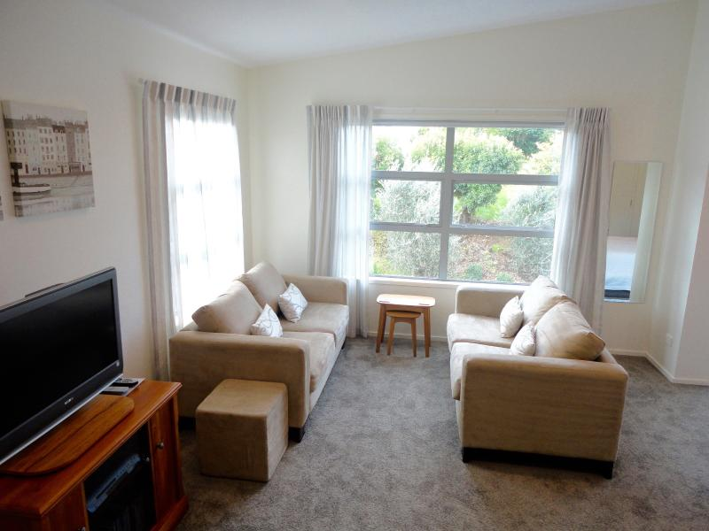 The suite is very spacious, with a comfortable lounge area with TV, DVD's and sound system