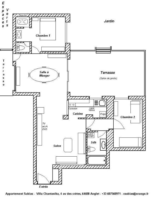 Plan de l'appartement / Apartment Map