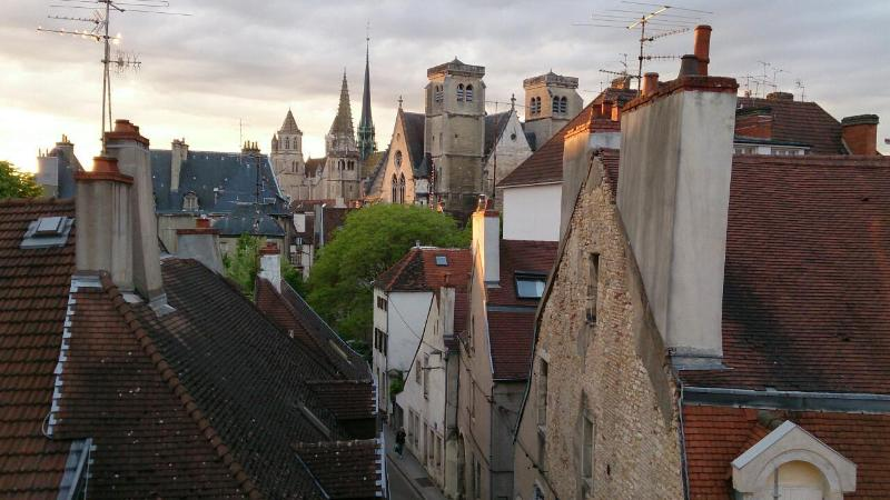 Large 85 sq/m. Light & spacious. Best view in Dijon. 2 bedrooms. Comfortable bed, casa vacanza a Digione