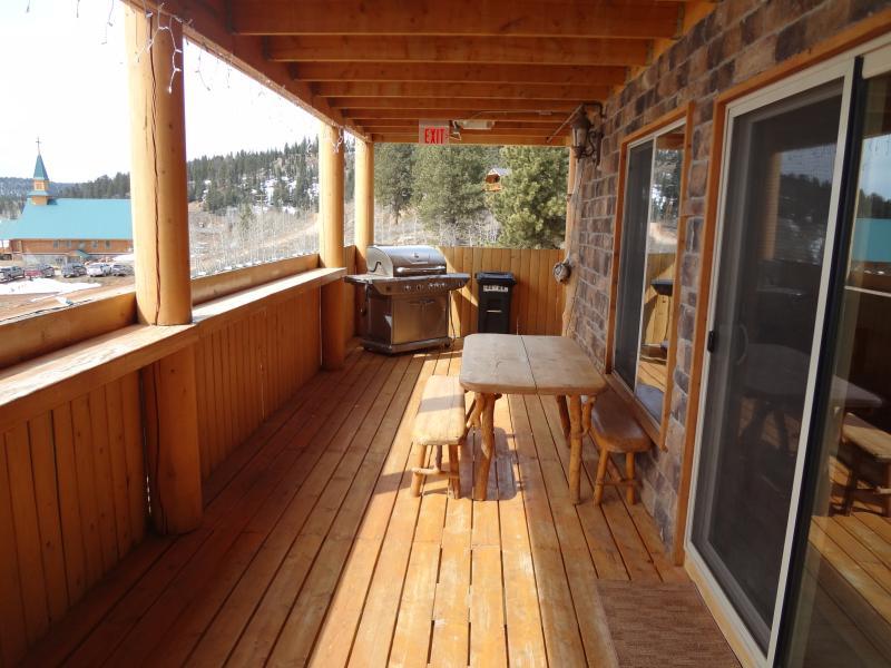 Outside deck.
