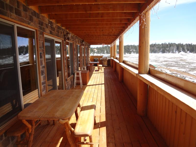 Outside wrap around 1600 foot deck for taking in views and enjoying company.
