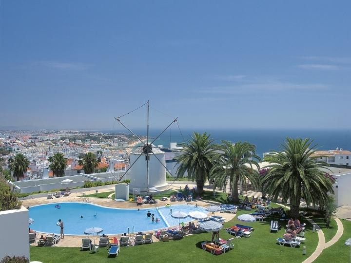 swimmingpool with fascinated view along the Algarve coast