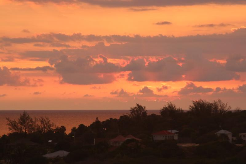 Sunsets like this one are viewed regularly from the verandah