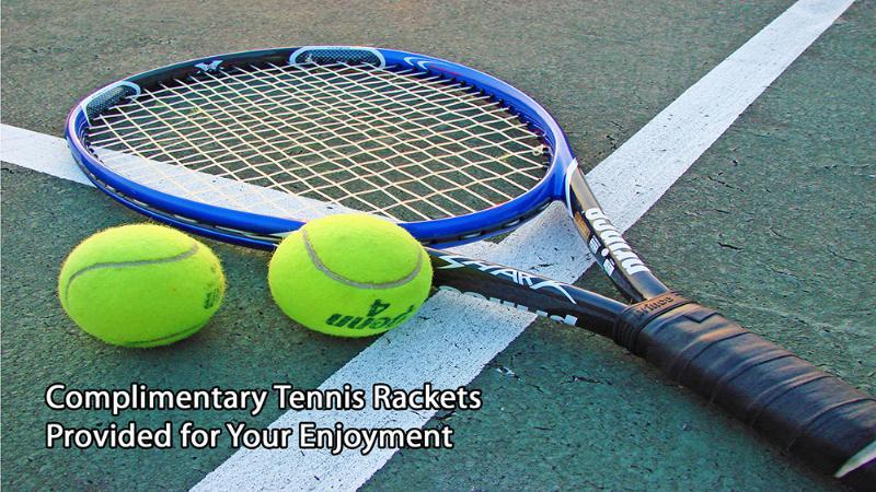 tenis gratis / uso gratuito de las raquetas y pelotas