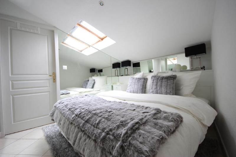 Bedroom with Romantic Ceiling Window to Watch Star
