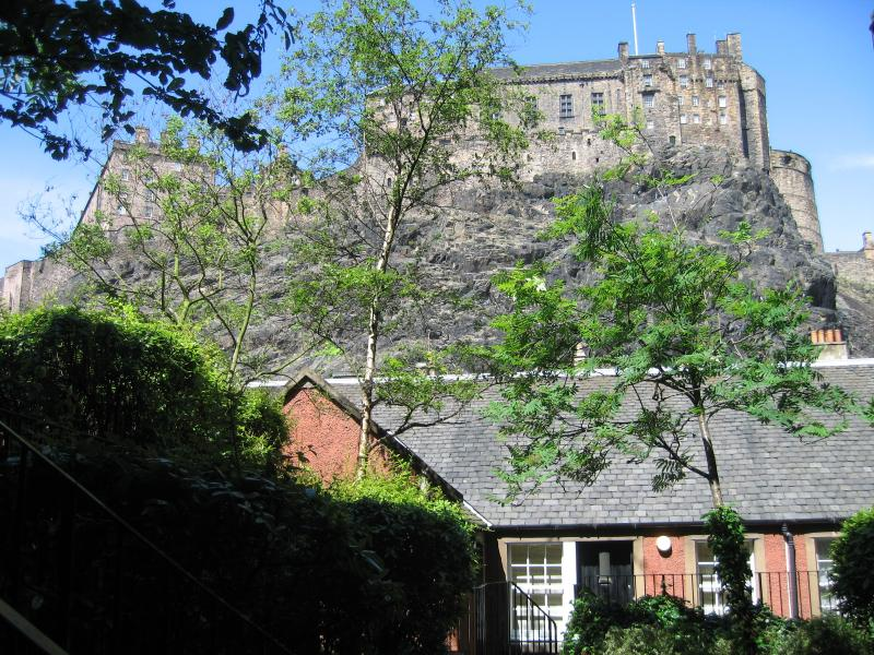 King's Stables with Edinburgh Castle above