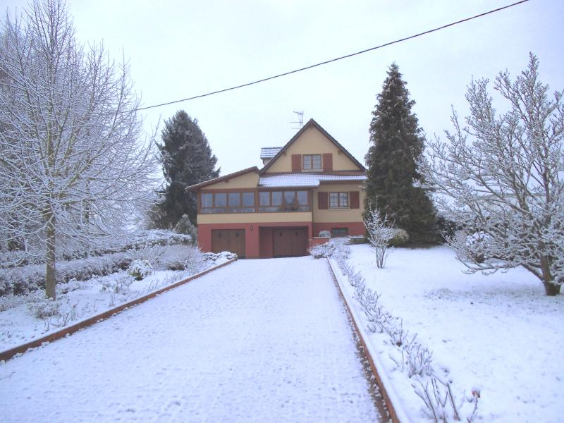 The property in winter: we are located less than 30 km from the ski slopes of the Ballon d'Alsace