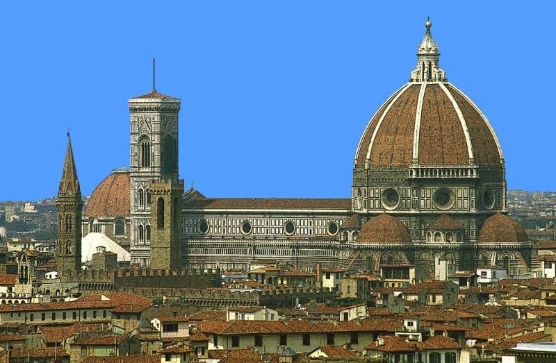 Panoramic view of Duomo
